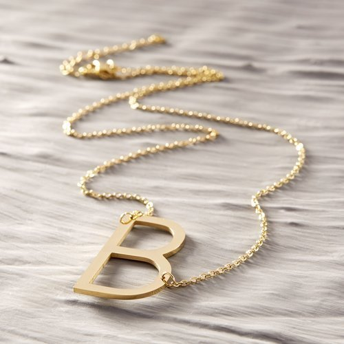 B for Barbara. Necklace with the letter B