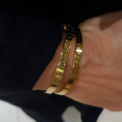 Bracelet. In the golden skin of a snake...