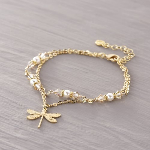 Bracelet on a string. With a dragonfly...