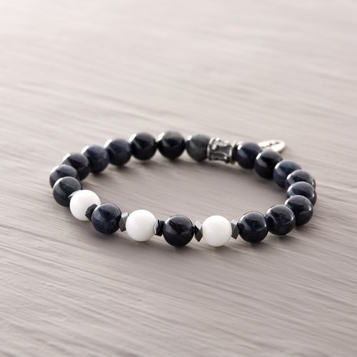 Brag about it. Male bracelet with beads