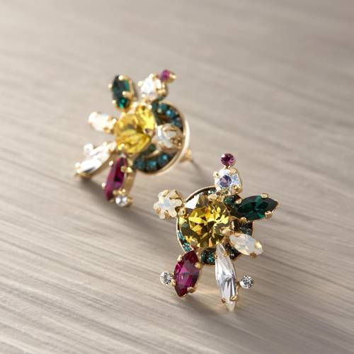 Colorful alternative. Earrings with crystals