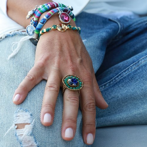 Colors of the Amazon. All sizes, beads ring