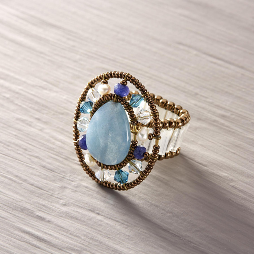 Corcovado. Ring with blue quartz