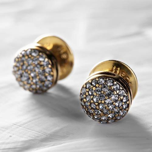 Delicate, magical. Crystal studs