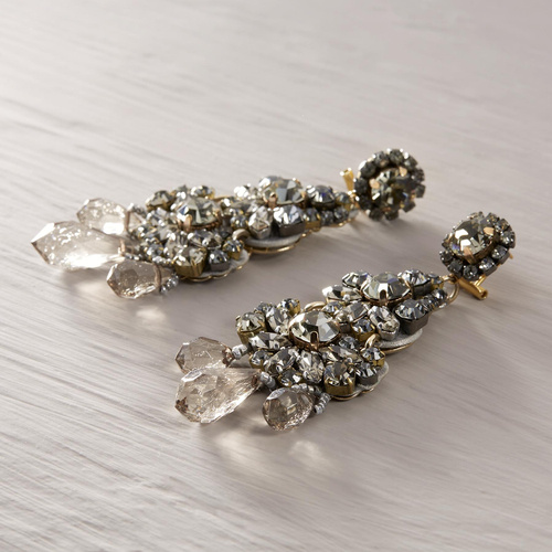 Dolce Italia. Drop earrings with crystals