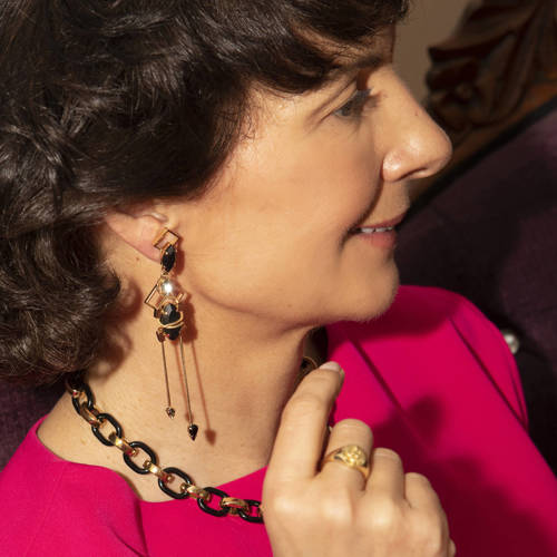 Feral serpent. Gold plated signet ring