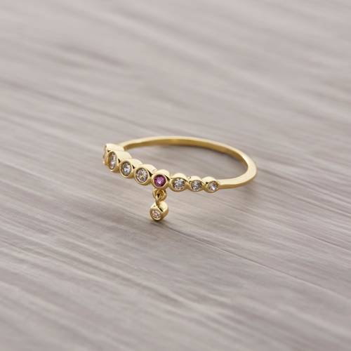 Forget it. Delicate ring with crystals