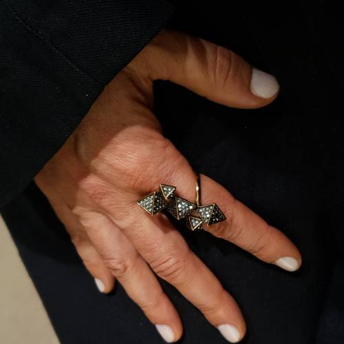 Frank Gehry. Statement ring with crystals