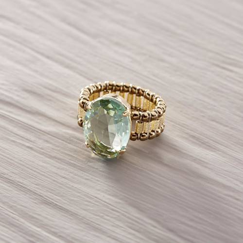 Frolic. Ring with a turquoise crystal