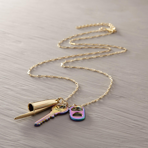 From Olimpia. Necklace with gasoline pendants