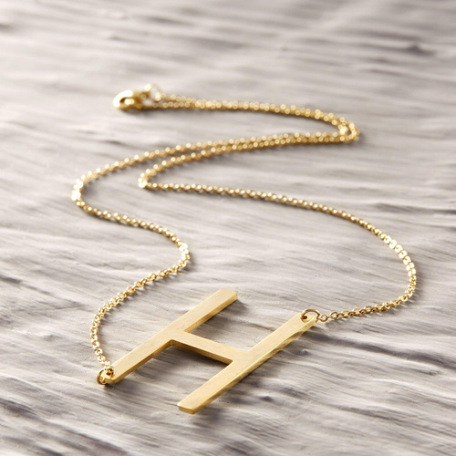 H for Hannah. Necklace with the letter H