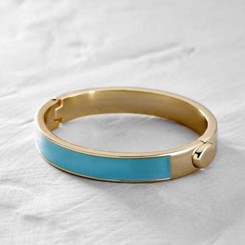 It waits for me. Cuff bracelet with turquoise enamel