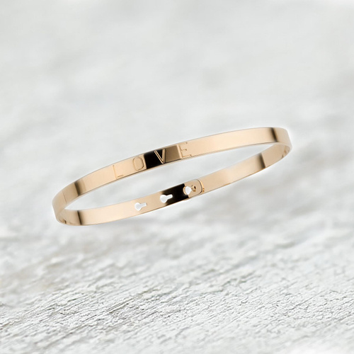 LOVE is all you need. Engraved cuff bracelet
