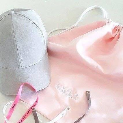 Lifestyle. Powder pink backpack