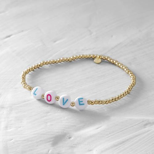 Love me. Colorful LOVE scrabble bracelet