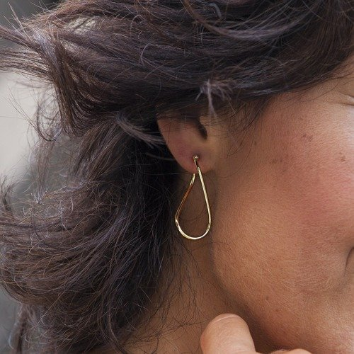 Maledives. Hoop earrings