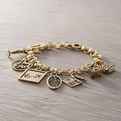 Old Hollywood. Bracelet with movie charms