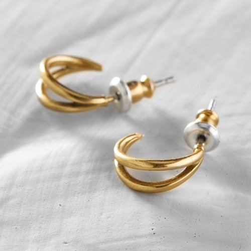 Ordinary, extraordinary. Little earrings in antique gold