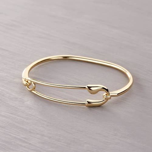 Positive safety pin. Cuff bracelet