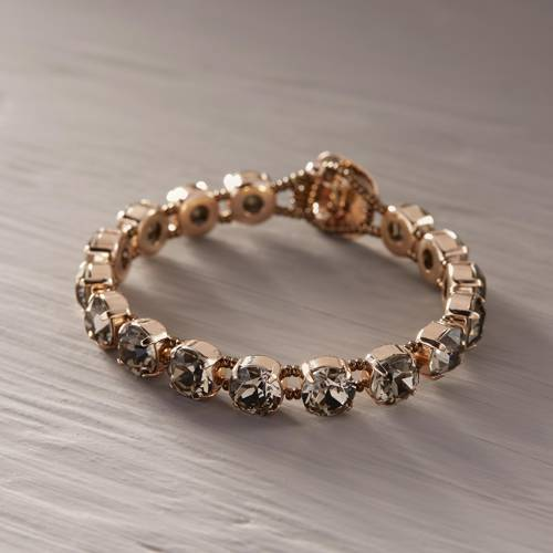 Quite beautiful. Bracelet with grey crystals