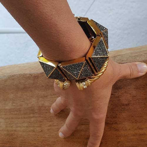She's the one. Cuff bracelet with crystals