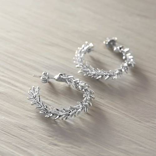 Taking a breath. Silver coated cypress hoops