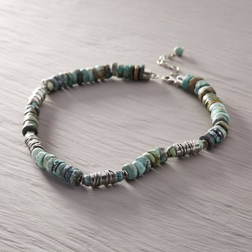 The August mood. Turquoise necklace