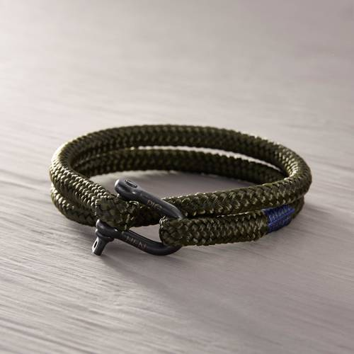 The great lakes. Green sailing rope bracelet