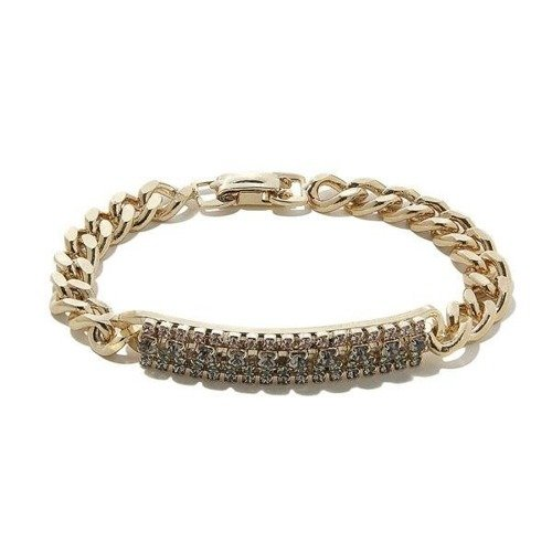 The strength of femininity. Golden chain bracelet