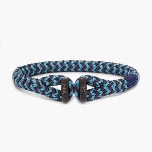 The wave. Black and blue sailing rope bracelet