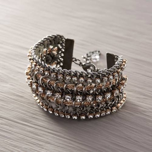 You'll see me. Statement bracelet with crystals