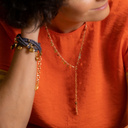 I'm navy blue. Blue bracelet with little crystals
