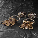 Make no mistake. Antique gold clip earrings with chains