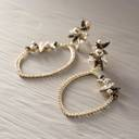 Remember those evenings?. Drop earrings in rose gold